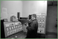 Dalmore Paper Mill 2000-Dyestuff pump control room, Foreman Ian Sinclair